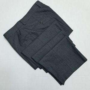 Chaps Gray Flat Front Dress Pants